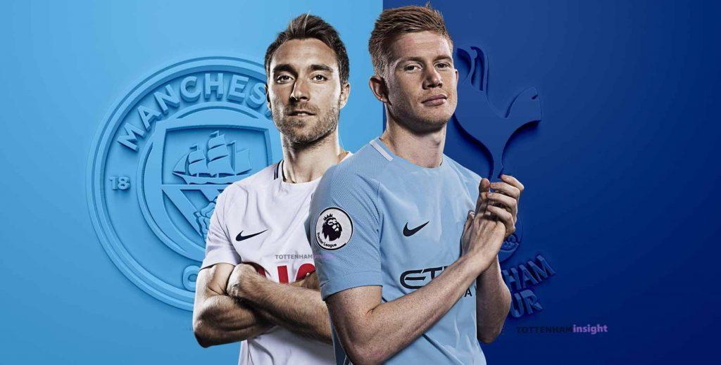 de bruyne vs eriksen_Manchester City-Tottenham