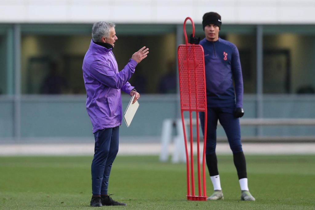 Jose_Mourinho_Tottenham_Spurs_training