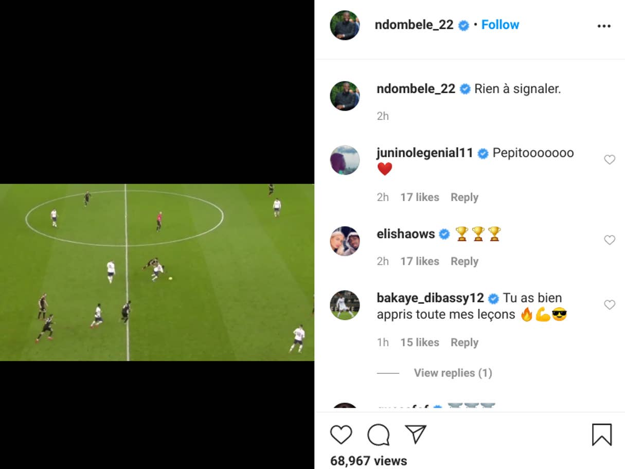 Tanguy-Ndombele-instagram-cryptic-message